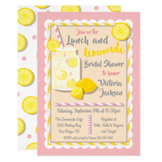 Cartão Chás de panela do almoço e da limonada