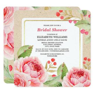 Cartão Chás de panela do design floral da aguarela