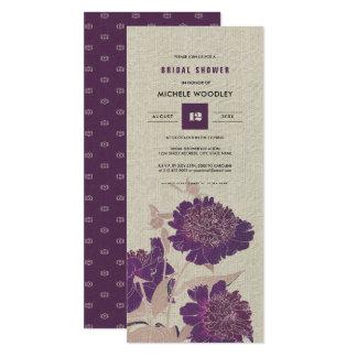 Cartão Chás de panela do design floral do vintage