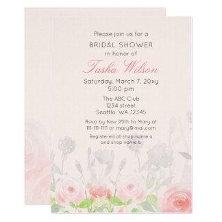 Cartão Chás de panela do jardim de rosas da aguarela