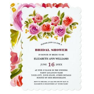 Cartão Chás de panela florais da aguarela
