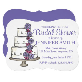 Cartão Chás de panela florais do bolo de casamento