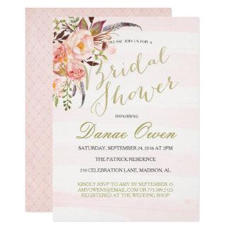 Cartão Chás de panela florais do rosa da aguarela
