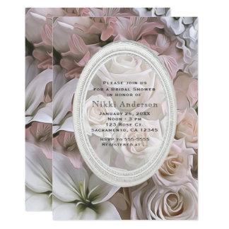 Cartão Chás de panela florais do rosa do chique