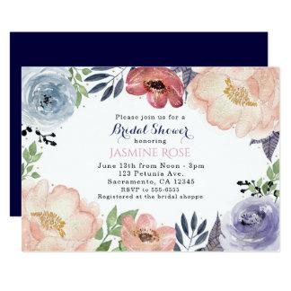 Cartão Chás de panela florais modernos da aguarela