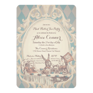 Cartão Chás de panela loucos do tea party do Hatter