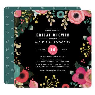 Cartão Chás de panela modernos do design floral
