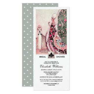 Cartão Chás de panela românticos da arte do vintage