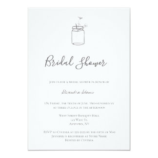 Cartão Chás de panela rústicos cinzentos do frasco de