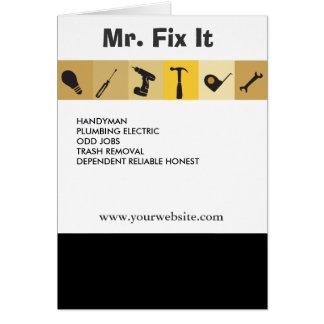 Cartão Chave da ampola de ferramentas de funcionamento