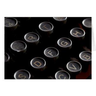 Cartão Chaves antigas da máquina de escrever
