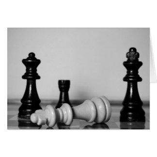 Cartão Checkmate da xadrez