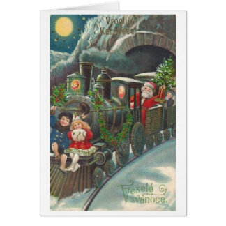 Cartão checo do Natal do vintage