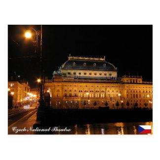 Cartão checo do teatro nacional