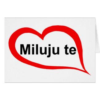 Cartão Checo eu te amo