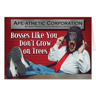 Cartão Chefe do mau do Macaco-athetic