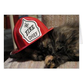 Cartão Chefe dos bombeiros cansado (docinho)