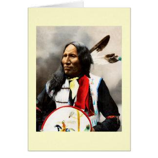 Cartão Chefe indiano de Sioux