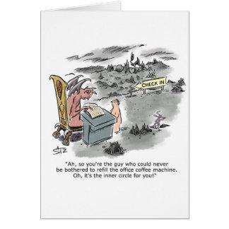 Cartão Chegada no inferno