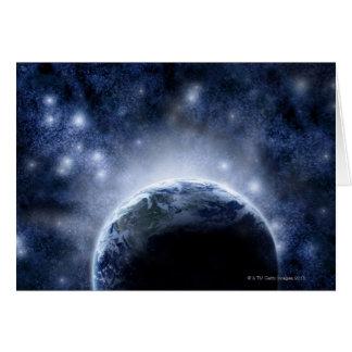 Cartão Cheio Airbrushed do céu nocturno das estrelas em
