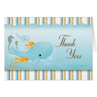 Cartão Cheio do oceano dos obrigados