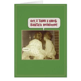 Cartão Cheiro engraçado do Natal