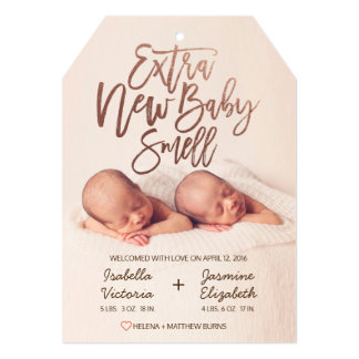 Cartão Cheiro novo extra do bebê do ouro cor-de-rosa do