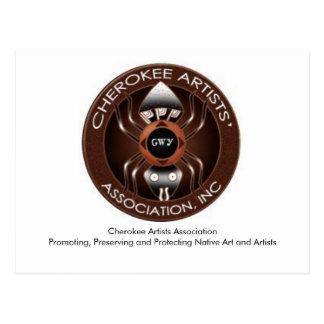 Cartão Cherokee da associação dos artistas