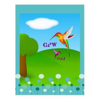 Cartão Cherokee do colibri