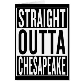 Cartão Chesapeake reto do outta