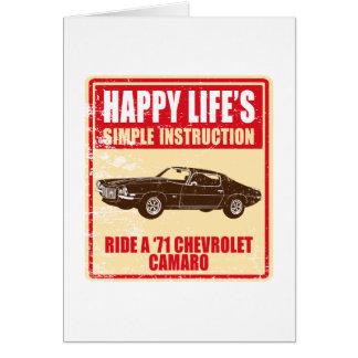 Cartão Chevrolet Camaro 1971