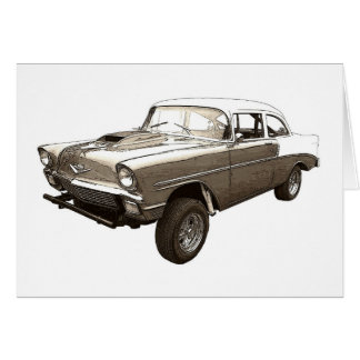 Cartão Chevy 1956 Gasser