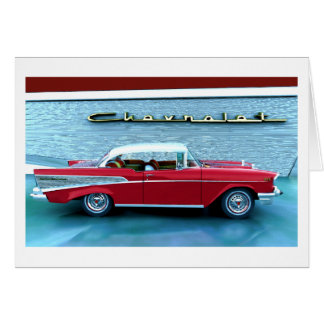 Cartão Chevy 1957