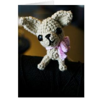 Cartão Chihuahua de Amigurumi