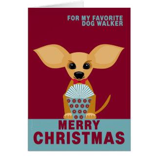 Cartão Chihuahua favorita do caminhante do cão do Feliz