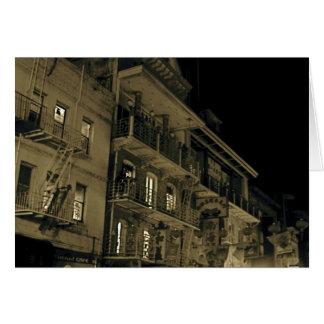 Cartão Chinatown na noite