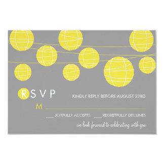 Cartão chinês de suspensão amarelo das lanternas convite 8.89 x 12.7cm