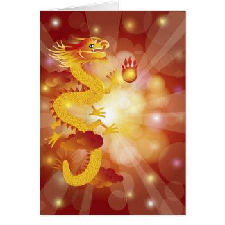 Cartão chinês do dragão