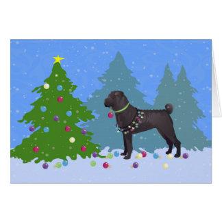Cartão Chinês Shar-Pei que decora a árvore de Natal -