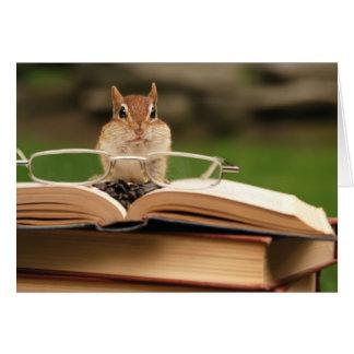 Cartão Chipmunk loving do livro