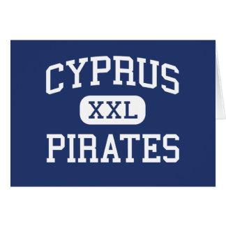 Cartão Chipre - piratas - segundo grau de Chipre - magnum