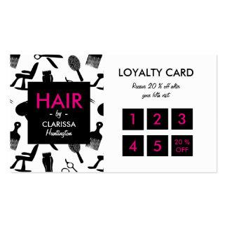 Cartão chique da lealdade do cabeleireiro cartão de visita