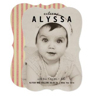 Cartão Chique do vintage, anúncios bonitos do nascimento