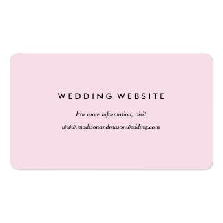 Cartão chique do Web site do romance | Cartão De Visita