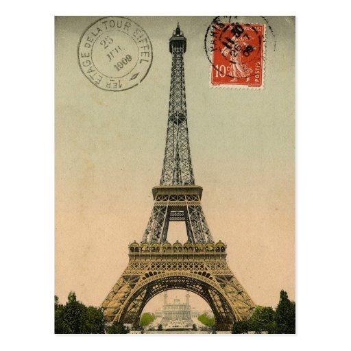 Cartão chique francês de Paris da torre Eiffel do  Cartões Postais