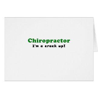 Cartão Chiropractor Im uma rachadura acima