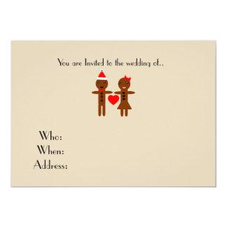 Cartão chirstmas que wedding o homem e a mulher de