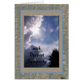 Cartão Chloe entre as nuvens