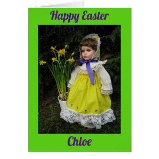 Cartão Chloe feliz de Easte