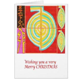 Cartão CHO KU REI - Feliz Natal de Reiki